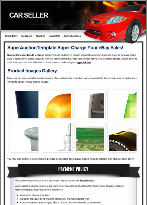 premium professional ebay templates. Black Bedroom Furniture Sets. Home Design Ideas