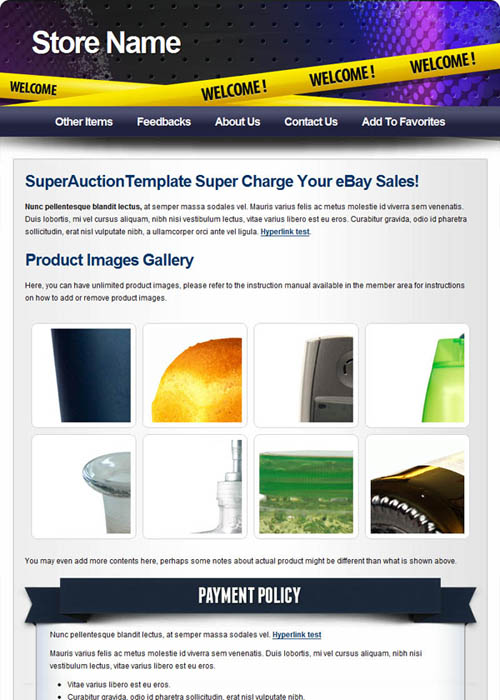 Picture 65 free ebay templates superauctiontemplate for Free ebay templates