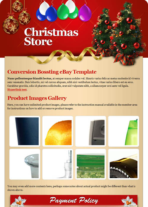 Christmas eBay Template